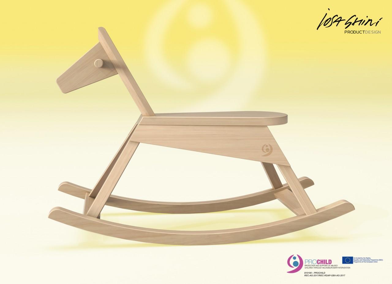 Cavallino a Dondolo design Iosa Ghini
