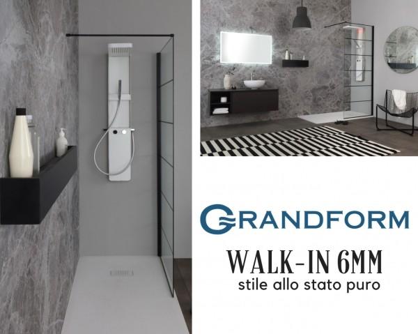 Grandform presenta Walk-in 6 mm, il box doccia che è stile allo stato puro
