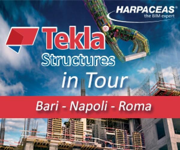 Tekla Structures in tour, segui la rotta del BIM: Bari, Napoli e Roma – Iscriviti subito!