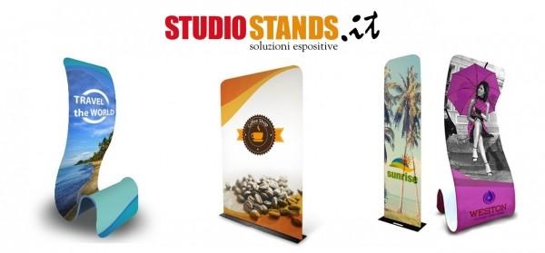 Studio Stands: innovativi Totem Soft con stampa su tessuto