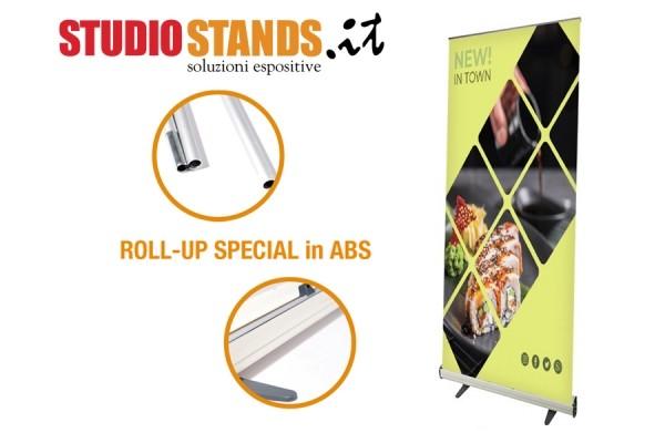 Espositori Roll Up Special con struttura in ABS