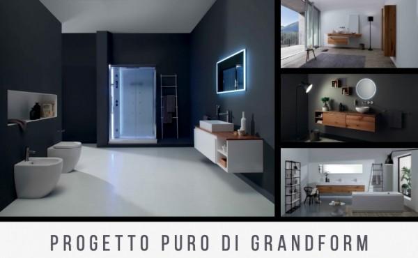 Progetto Puro di Grandform: un concept globale per l'arredo dell'ambiente bagno
