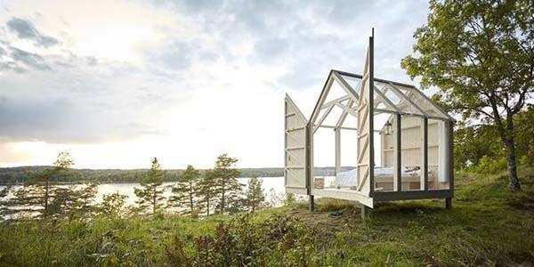 Bioedilizia: le micro-cabine svedesi che riducono lo stress del 70%