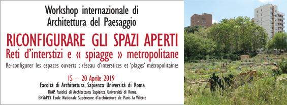 Workshop Internazionale Di Architettura Del Paesaggio