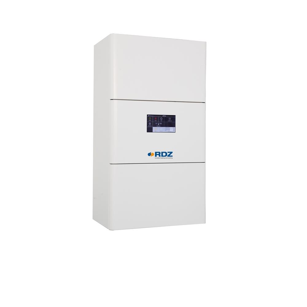 Unità interne PDC Wall UI - I modelli della versione PDC Wall UI possono rispondere a qualsiasi esigenza di riscaldamento e raffrescamento in ambito residenziale e possono essere dotati opzionalmente di resistenze elettriche, valvola deviatrice per produzione ACS e tablet con Web Server per la gestione dell'unità da remoto. La possibilità di apertura del pannello frontale consente di accedere con facilità ai componenti interni, agevolando le operazioni di installazione e manutenzione.