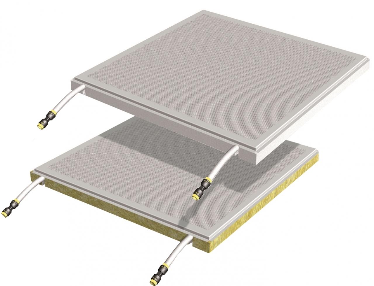 •Quadrotti radianti metallici b!klimax+ 600x600 e 1200x600 - b!klimax+ Quadrotti è un sistema per il riscaldamento e raffrescamento a soffitto, costituito da plafoni metallici su cui è fissata la tubazione in PB diam. 6 mm dotata di barriera antiossigeno. I quadrotti radianti sono disponibili con isolamento in polistirene stampato o in lana di roccia, sono di semplice e rapida installazione e possono essere rimossi per interventi di ispezione e manutenzione anche ad impianto funzionante. Grazie alla bassa inerzia termica, alle elevate prestazioni e alla capacità di mantenere gli ambienti salubri, il sistema è particolarmente indicato per il settore terziario, ospedaliero e RSA e per tutti gli edifici dove è indispensabile garantire una condizione di comfort in ogni stagione.