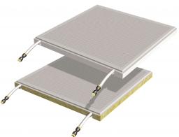 •Quadrotti radianti metallici b!klimax+ 600x600 e 1200x600