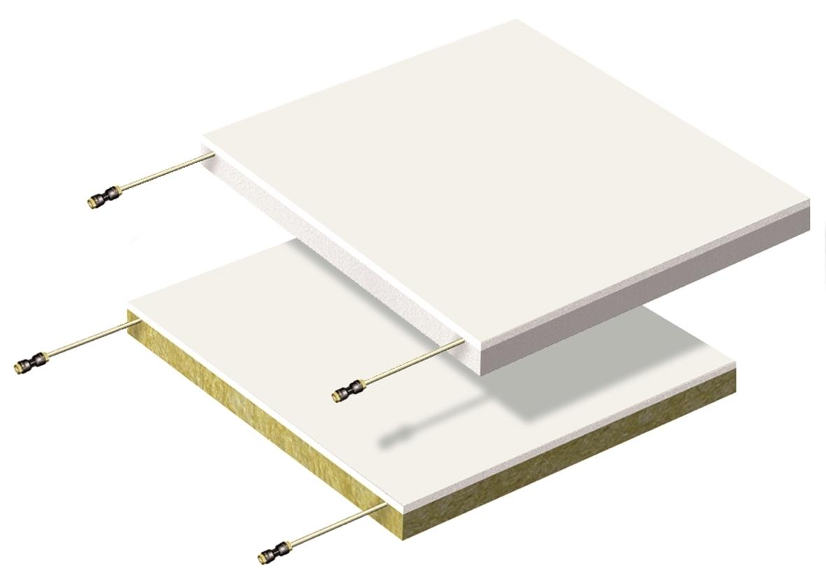 Quadrotti radianti b!klimax+600x600 in cartongesso - b!klimax+ Quadrotti è un sistema per il riscaldamento e raffrescamento a soffitto, costituito da plafoni con lastra in cartongesso su cui è fissata la tubazione in PB diam. 6 mm dotata di barriera antiossigeno. I quadrotti radianti sono disponibili con isolamento in polistirene stampato o in lana di roccia, sono di semplice e rapida installazione e possono essere rimossi per interventi di ispezione e manutenzione anche ad impianto funzionante. Grazie alla bassa inerzia termica, alle elevate prestazioni e alla capacità di mantenere gli ambienti salubri, il sistema è particolarmente indicato per il settore terziario, ospedaliero e RSA e per tutti gli edifici dove è indispensabile garantire una condizione di comfort in ogni stagione.