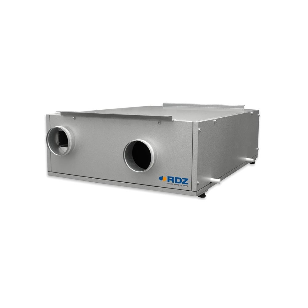 Unità di ventilazione meccanica CHR 350-FC - Unità di ventilazione con recupero di calore (fino al 91%), Scambiatore in alluminio, Potenza elettrica massima assorbita 170 W, Ideale per applicazioni in ambito residenziale, Installazione orizzontale a controsoffitto, Ventilatori modulanti ad alta efficienza, Livello di pressione sonora (3 m) 58 dB(A), Filtri aria G4 (optional F7), Costruzione curata e ben assemblata.
