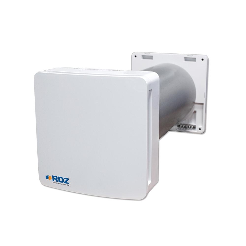 Recuperatore di calore WHR 61 - Unità di ventilazione con recupero di calore (fino al 93% in modalità combinata), Scambiatore ceramico, Bassissimo assorbimento elettrico, Ideale per edifici nuovi o esistenti, Installazione a parete, Funzionamento a 3 velocità, Grado di protezione IPX4, Filtri aria G3, Soluzione estetica e compatta