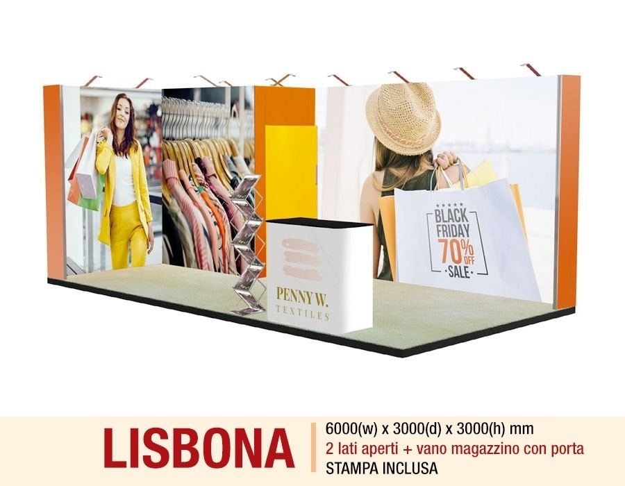 stand-textile-frame-lisbona-2-lati-aperti-con-magazzino