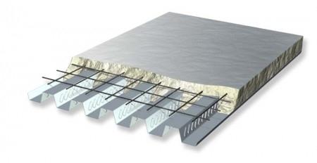 ITP H55 BETON - Lamiera grecata profilo 55 in acciaio zincato destinato all'utilizzo come solaio collaborante. La lamiera viene realizzata con bugne laterali che favoriscono l'adesione del calcestruzzo, impedendone lo scorrimento.