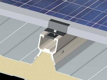 Sistema ITP - Kit in alluminio estruso studiato appositamente per il montaggio dei moduli fotovoltaici sulle tipologie standard di pannelli retti e curvi Italpannelli.