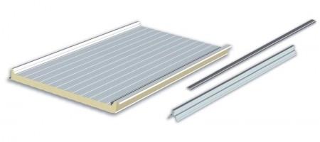 Italvoltaico - Pannello sandwich autoportante con isolante in schiuma poliuretanica. Il sistema è stato studiato per l'installazione facile ed armoniosa di qualsiasi modulo fotovoltaico.