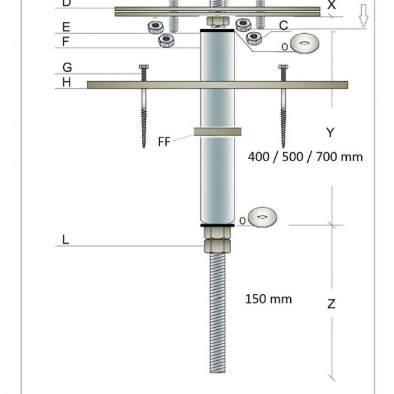 ANCORAGGIO MOD. ROUND PER CEMENTO - L'ancoraggio modello Round 6060 è un ancoraggio strutturale in acciaio inox ed alluminio aeronautico, installabile singolarmente o quale elemento di una serie che, abbinato alla fune Gairon, da luogo alla Linea Vita. Tale Sistema è stato concepito per permettere agli operatori di lavorare in sicurezza sulle coperture latero/cementizie o in cemento armato. Tutti i prodotti sopra menzionati sono componenti brevettati Gamba Safety.