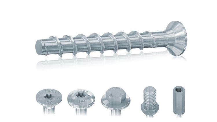 ULTRACUT FBS II 6 in acciaio zincato - ULTRACUT FBS II 6 SK viti per calcestruzzo con testa svasata piana Viti per calcestruzzo Ø 6 in acciaio zincato per installazioni in zona sismica C1 con profondità di posa variabile. Removibili e regolabili.