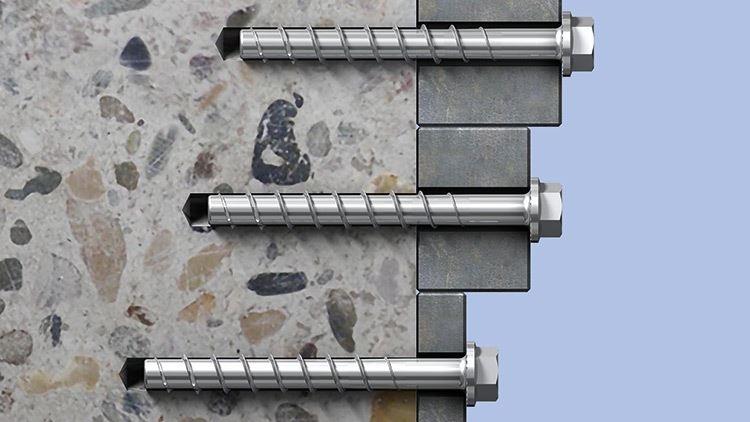 ULTRACUT FBS II 8,10,12 e 14 in acciaio zincato - ULTRACUT FBS II 8,10,12 e 14 in acciaio zincato Viti per calcestruzzo per installazioni con richiesta di categoria di prestazione sismica C1/C2 rapide da installare e regolabili. Removibili e riutilizzabili.