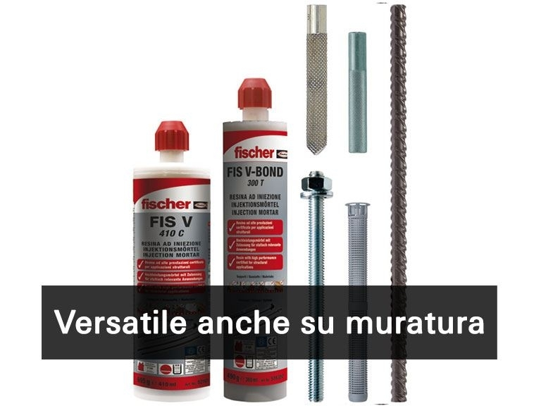 FIS V  FIS V-BOND - La resina a iniezione ibrida vinilestere ad alte prestazioni per calcestruzzo fessurato, riprese di getto e applicazioni sismiche con categoria di prestazione sismica C1 e C2