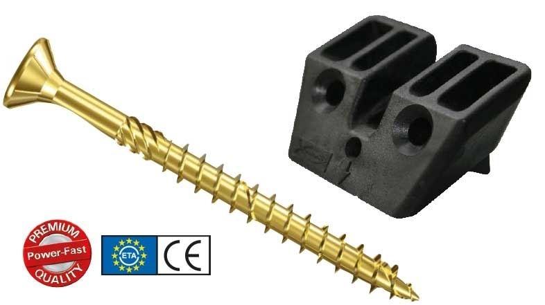 Connettori - CSC 45 PowerFast. Connettore per solai misti legno-calcestruzzo, per il rinforzo strutturale di solai esistenti o di nuova costruzione.