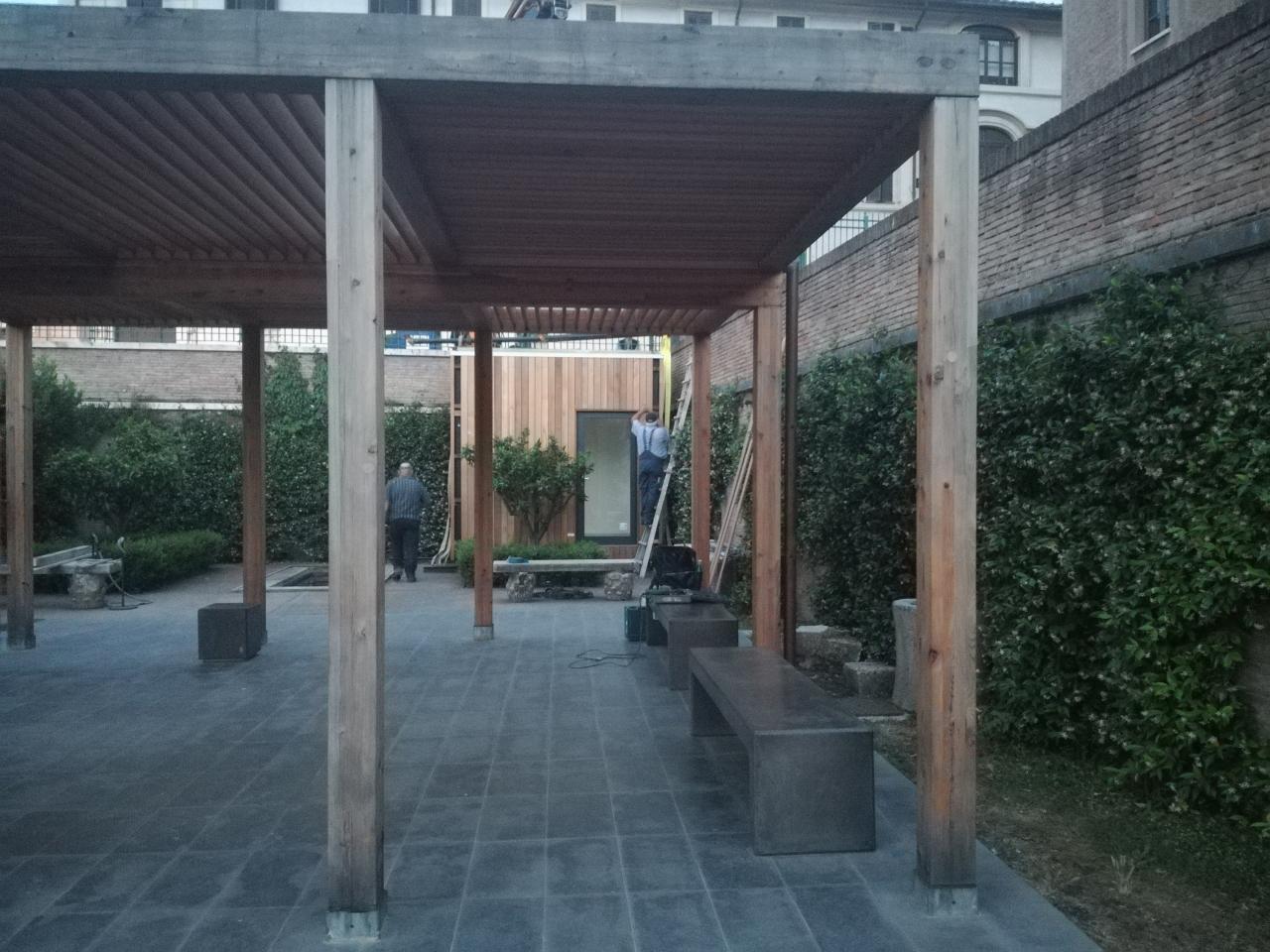 Nessun Titolo 24-06-2019 - Ecospace Italia - Roma Parco del Colosseo  Il modulo a fine installazione