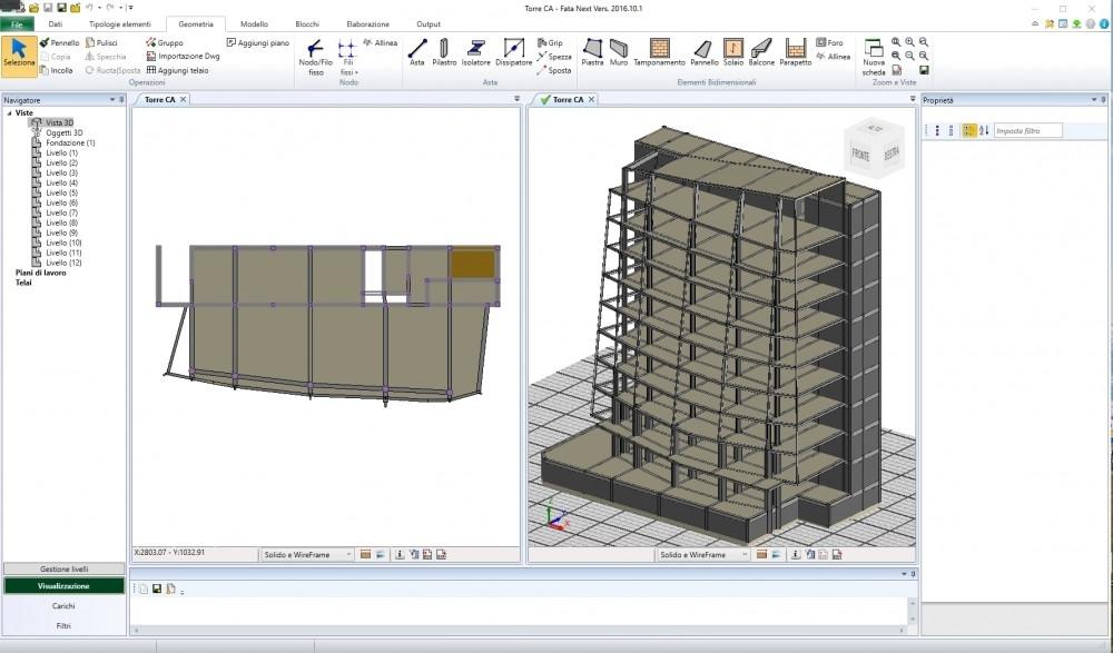 FaTa Next - Il nuovo software per il calcolo strutturale con analisi anche non lineare.