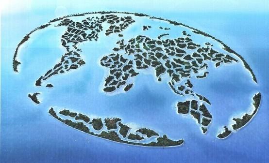 """THE WORLD - """"The World"""" è uno dei porgetti più folli di Dubai, negli Emirati Arabi Uniti. Le 300 isole artificiali, che formano la sagoma del mondo appunto, sono nate dall'idea dell'Emiro e del Principe Mohamed Bin Rashid Al Maktum. I lavori sono cominciati nel 2003."""