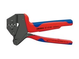 97 43 66 - KNIPEX Pinza universale per terminali per matrici intercambiabili rivestiti in materiale bicomponente brunita 200 mm