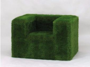 Seduta da esterni in EPS rivestita con erba sintetica