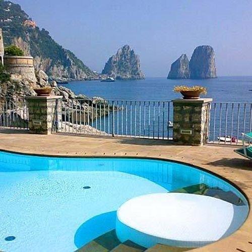 Hotel di Capri - Materiali utilizzati: Santafiora Venata Toscana.