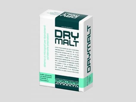 DRY MALT - intonaco pozzolanico - Dry Malt a base di pozzolana  Intonaco da risanamento tradizionale pozzolanico microporoso certificato R/CS II(EN 998-1)  Composizione: calce idraulica naturale nhl 3.5 (459-1), cemento pozzolanico ad elevata resistenza ai sali, pozzolana romana,naturale,micronizzata a reattività, certificata (en 197-1), sabbie naturali di origine alluvionale non macinate (en 13139).   Colore: grigio nocciola  Granulometria: 0-3 mm.(spessore minimo applicabile 2 cm.)  Tipo finitura: granulometria 0-0,6 mm. colore bianco  Consumo: kg.13/mq per 1 cm.di spessore  Applicazione: a mano o con intonacatrice  pallet a 2 vie 90 x 90 cm- nr° 60 sacchi=kg 1500+nylon