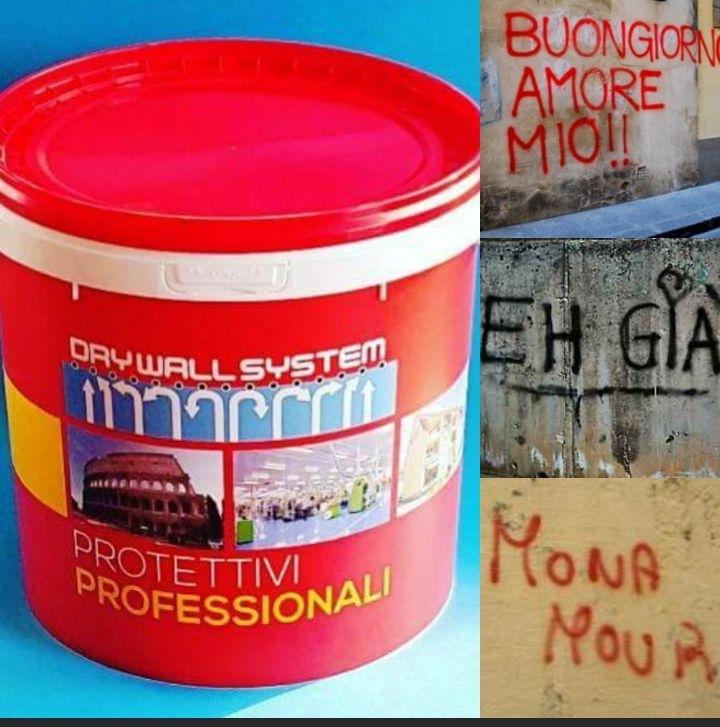 Wall Protector - WALL PROTECTOR antigraffiti Prodotto a base di cere microcristalline, impiegato per la prevenzione dei danni provocati dalle scritte vandaliche con bombolette spray e simili.