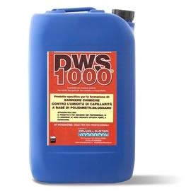 DWS 1000 - Sistema monocomponente. Altissima fluidità ed elevata bagnabilità. Ha una elevata affinità con tutti i materiali lapidei. Dopo l'applicazione, il manufatto non è lucido ne  appiccicoso ne unto, la traspirabilità originale è invariata, non modifica il colore  originale del muro, è sopraverniciabile. Prodotto a base di polidimetilsilossani reattivi in emulsione, arricchiti di fluidificanti,  bagnanti e chelanti. e' specifico per la formazione delle barriere chimiche contro  l'umidità di capillarità. La fluidità del prodotto ne consente l'assorbimento a tutta  la sezione del muro. catalizza in 8-10 gg.
