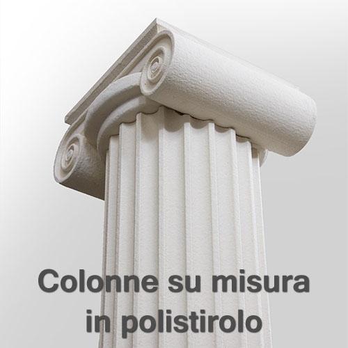 Cornici decorative per esterno - COLONNE IN POLISTIROLO E LESENE DECORATIVE