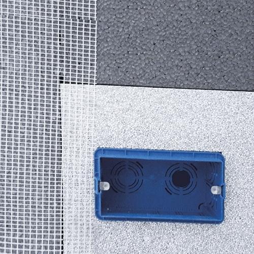 Ancoraggio su cappotto - Sistemi di fissaggio per scatole elettriche su isolamento a cappotto termico