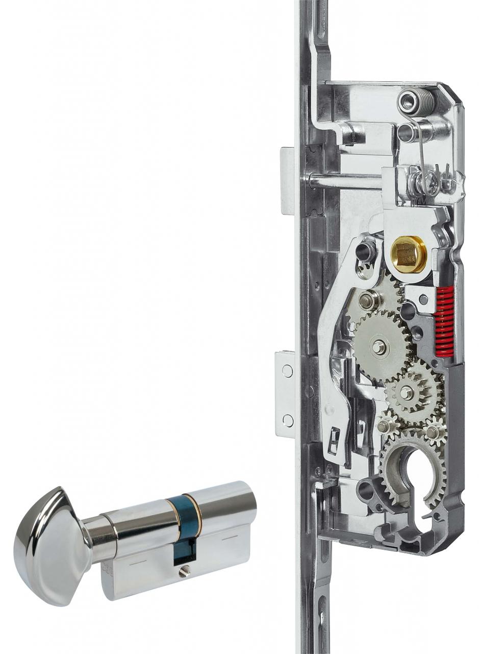 Sicurtop - Sicurtop, dove la movimentazione avviene tramite il cilindro. 2- Unitop dove è la maniglia ad azionare la chiusura.