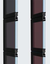 Portone sezionale vetro