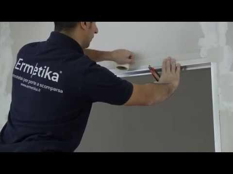 Installazione telaio filo muro tirare Absolute Swing di Ermetika