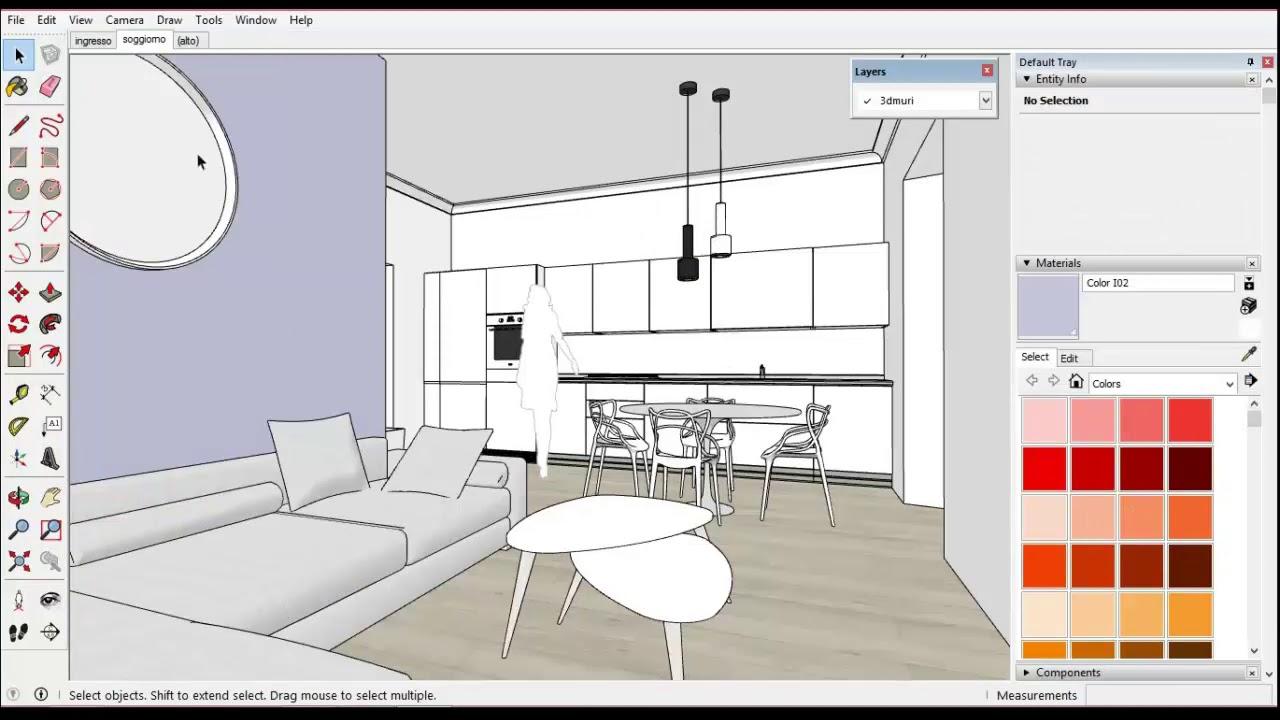 Corso sketchup + Inkscape: dal 3D all'impaginazione del progetto