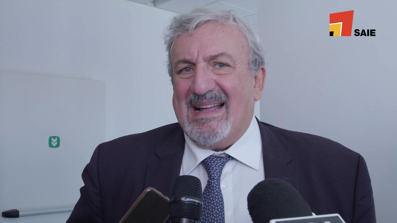 Michele Emiliano, presidente Regione Puglia, a SAIE Bari