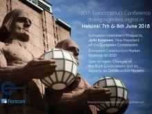 85a Conferenza Euroconstruct 7-8 Giugno 2018 Helsinki - Finlandia